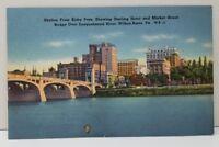 Wilkes-Barre Skyline from Kirby Park  Postcard C9