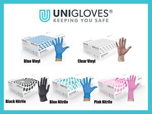 100 Vinyl Gloves Disposable Nitrile Powder Free Latex Free Blue Clear Black
