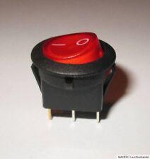 Einbauschalter Geräte Schalter Wippschalter Netzschalter Beleuchtet Rund 230V