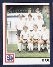 PANINI FOOTBALL 81 #369-BOLTON WANDERERS TEAM PHOTO (LEFT)