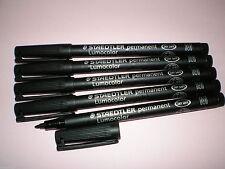 5 x STAEDTLER Folienstift Lumocolor M permanent 317-9 schwarz OHP Pen Marker NEU