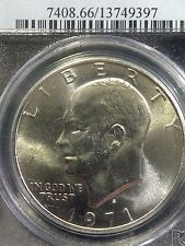EISENHOWER DOLLAR PCGS MS-66 1971-S SILVER