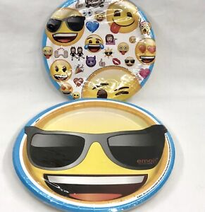 Emoji Birthday Paper Plates 2 Packs Party Smiley Face