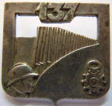 Insigne 137° RI Régiment Infanterie casque ORIGINAL Variante DRAGO PARIS France