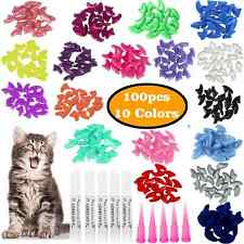 New listing Cat Nail Caps 100 Pcs Colorful Pet Cat Soft Claws Nail Covers For Cat Claws With
