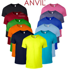 Anvil MEN'S COTTON T-SHIRT TEE NEON COLOURS LIGHTWEIGHT SUMMER TOP GYM FASHION