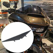 Matte Black Headlight Eyebrow Eyelid Trim For Harley Road Glide FLTRX CVO 15-21