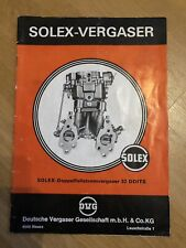 Solex doble caso electricidad carburador 32 ddits folleto NSU Wankel ro 80