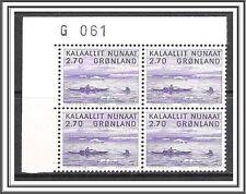 Greenland #113 Harpooning Walrus Plate Block Mnh