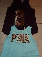 VICTORIAS SECRET PINK TIGER PRINT OVERSIZE BOYFRIEND MUSCLE TANKTOP CHOICE NWT