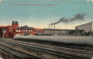 H63/ Fort Wayne Indiana Postcard c1910 Fort Wayne Electric Works Factorty 55