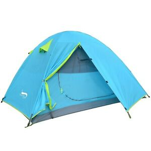 Camping Tent Lightweight Tent Double Layer Waterproof Portable Aluminum Poles