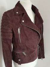 Allsaints Jacket Leather Huxley suede Biker UK 8 us 4 eu 36