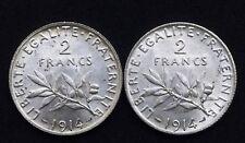 2 Francs 1914 Semeuse - Argent 835°/00