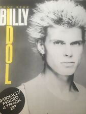 Billy Idol Don't Stop Poster Rare Promo 1981