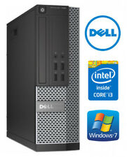Dell 7010 pequeña computadora de escritorio PC rápido Core i3 Ssd Windows 7 Pro