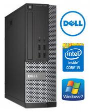 Dell 7010 pequeña computadora de escritorio PC rápido Core i3 4 GB 500 GB Windows 7 Pro