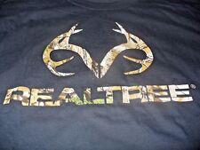 Realtree Men's Hunting Deer Black & Camo T-Shirt Size 3XL