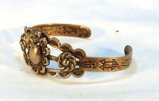 Vintage Coin Silver Fred Harvey Southwestern Bracelet