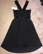 Gianfranco Ferre Milano Black Sleeveless Dress Size 40 NWT