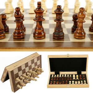 Large Wooden Magnetic Chess Set Folding Chessboard International Chess Board BO