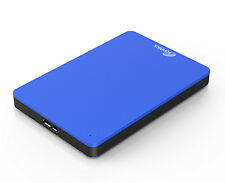 Sonnics Slim 1TB USB 3.0 External Hard Drive Blue Win PC / MAC XBOX ONE PS4