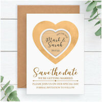 Personalised Round Wedding Change of Date Save The Date New Evening Magnet Rb49c