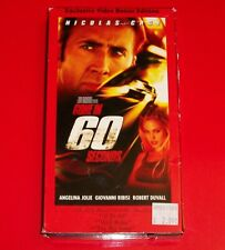 Gone in 60 Seconds (VHS, 2001, Exclusive Video Bonus Edition) Nicolas Cage