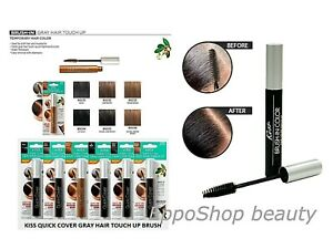 [KISS] QUICK COVER GRAY HAIR TOUCH UP BRUSH 0.25OZ TEMPORARY COLOR DYE Mustache