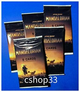 Topps Star Wars The Mandalorian Season 1 Trading Cards Sealed Pack • 5 Packs Lot