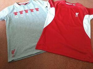 2 X Official Liverpool FC Merchandise Large Boys T Shirt Age 11-12