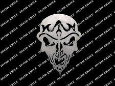 Skull 16 Motorcycle Hot Rat Rod Sign Emblem Wall Art Plasma Cut Stencil Custom