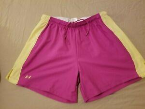 Womens Under Armour Shorts M Medium Purple Athletic Gym Workout Running