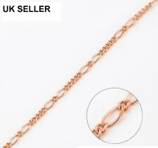 """L =19.7/"""" Gift,829 Stunning 9ct 9K Rose /""""Gold Filled/"""" Men Ladies NECKLACE CHAIN"""