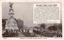 LONDON UK KING GEORGE TRIBUTE TO QUEEN VICTORIA~ROTARY PHOTO  POSTCARD