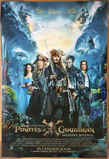 PIRATES OF THE CARIBBEAN DEAD MEN TELL NO TALES MOVIE POSTER DS RARE ORIG 27x40