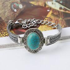 Retro Bohemian Vintage Women Turquoise Charm Bracelets Bangles Boho Jewelry NEW
