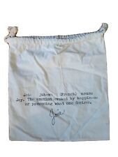 """New Joie Authentic Drawstring Dust Bag Cover Shoe-Purse Muslin Bag (13""""x12"""")"""