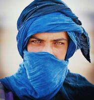 Gift+ Tuareg Scarf Long Handmade Turban Ethnic Sahara african Adult