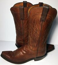 Lucchese 1883 Brown Leather Western Cowgirl Boot Women Size 8.5 C (Wide Width)