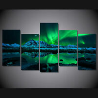 Modern Abstract Oil Painting Wall Decor Art Huge - large aurora borealis poster