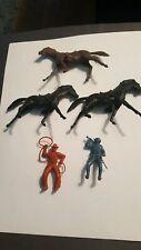 Marx Vintage 7th Cavalry Horses and random  Figure lot