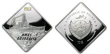 Palau 2011 2 OZ Silver Proof $10 Australia Battleship Rare-mintage 1000
