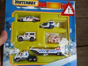 MATCHBOX POLICE VEHICLE SET BOXED PLEASE SEE PICTURES