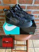 Nike SB Dunk High Pro PRM QS FPAR, Black Grey-Black, Size 13