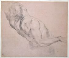 Aft. Peter Paul Rubens Oxford University Stamped Print Classical Figure Etching