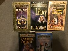 Forgotten Realms Paperback book lot The Legacy Homeland Elfshadow 5 books