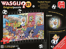 Wasgij Original 21 Football Fever Jigsaw Puzzles With Wall Chart 2 X 1000