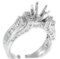 Diamond Engagement Ring Setting 1.06ct 18k White Gold