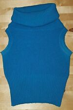"LADIES CHUNKY COWL NECK TURQUOISE JUMPER ~ MORGAN ~ ONE SIZE (30"" CHEST)"